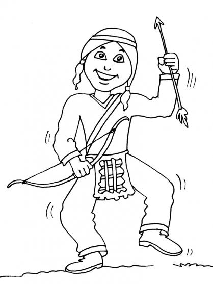 Coloriage petit indien 20 coloriage enfants gar ons indien coloriage personnages - Coloriage petit indien imprimer ...