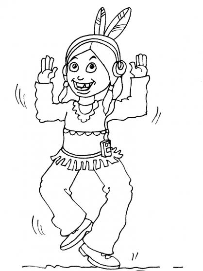 Coloriage petit indien 26 coloriage enfants gar ons indien coloriage personnages - Coloriage petit indien imprimer ...