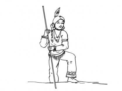 Coloriage Petit indien 6