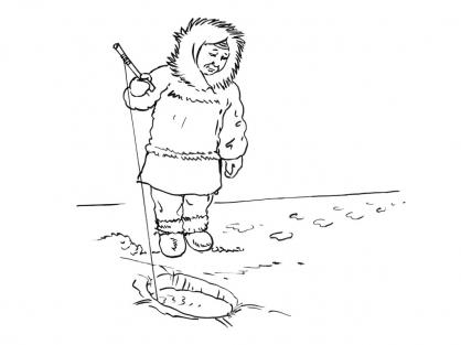 Coloriage Petit inuit 10