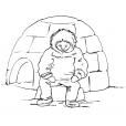 Coloriage Petit inuit 11