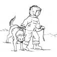 Coloriage Petit inuit 12
