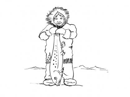 Coloriage Petit inuit 13