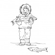 Coloriage Petit inuit 14