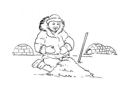 Coloriage Petit inuit 15
