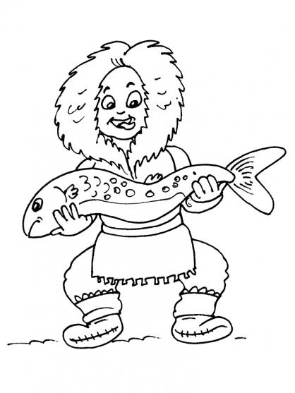 Coloriage Petit inuit 17