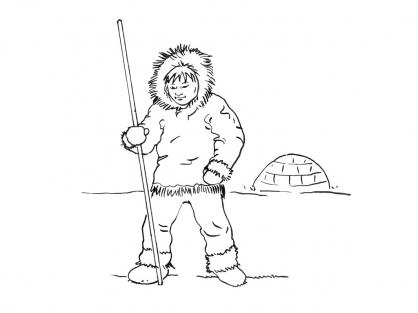 Coloriage Petit inuit 2