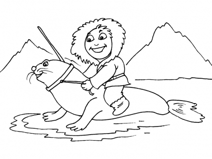 Coloriage Petit inuit 21