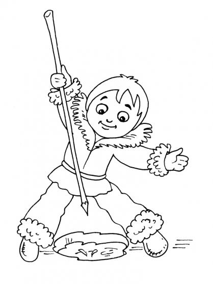Coloriage Petit inuit 25