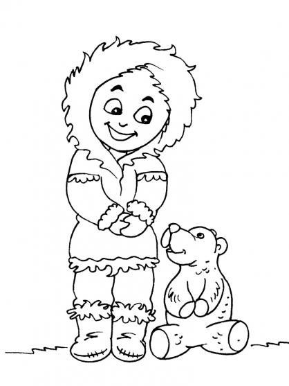 Coloriage Petit inuit 28