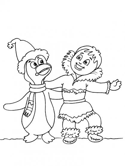 Coloriage Petit inuit 29
