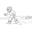 Coloriage Petit inuit 3