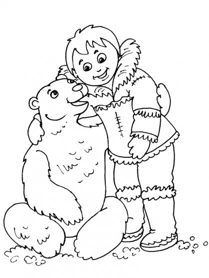 Coloriage Petit inuit 30