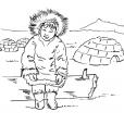 Coloriage Petit inuit 4
