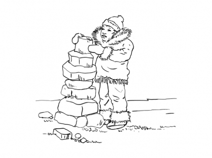 Coloriage Petit inuit 5
