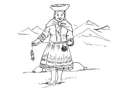 Coloriage Incas 11