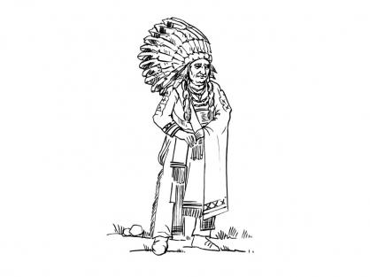 Coloriage indien 2 coloriage indiens coloriage personnages - Indien coloriage ...