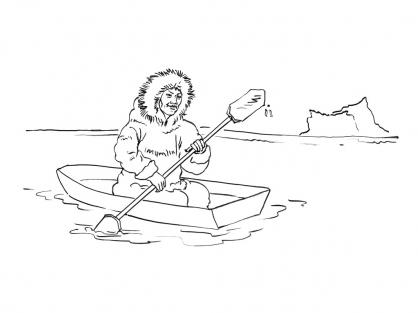 Coloriage Inuit 12