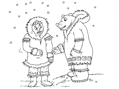 Coloriage Inuit 17