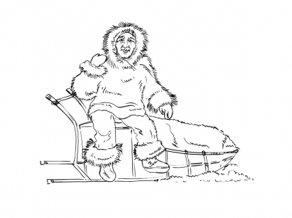 Coloriage Inuit 2