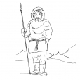 Coloriage Inuit 3