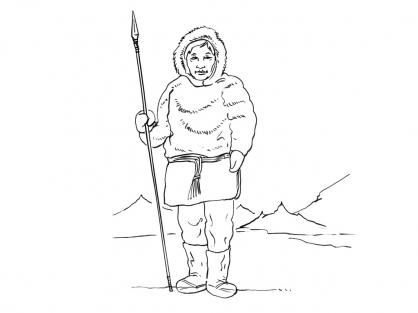 Coloriage Inuit 3