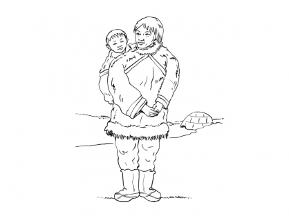 Coloriage Inuit 5