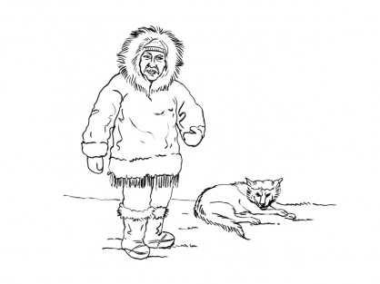 Coloriage Inuit 7