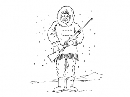 Coloriage Inuit 8