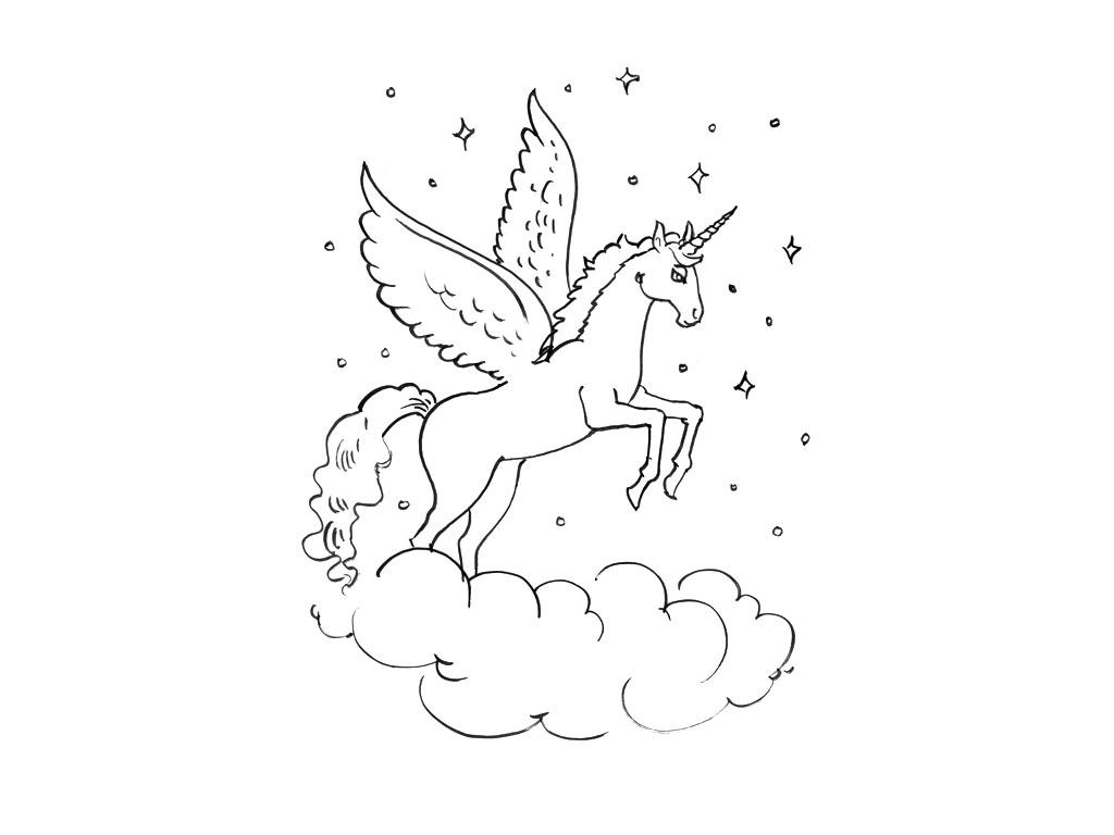 Pin dessin licorne pour tatouage p1q eu funny pics - Dessins licorne ...