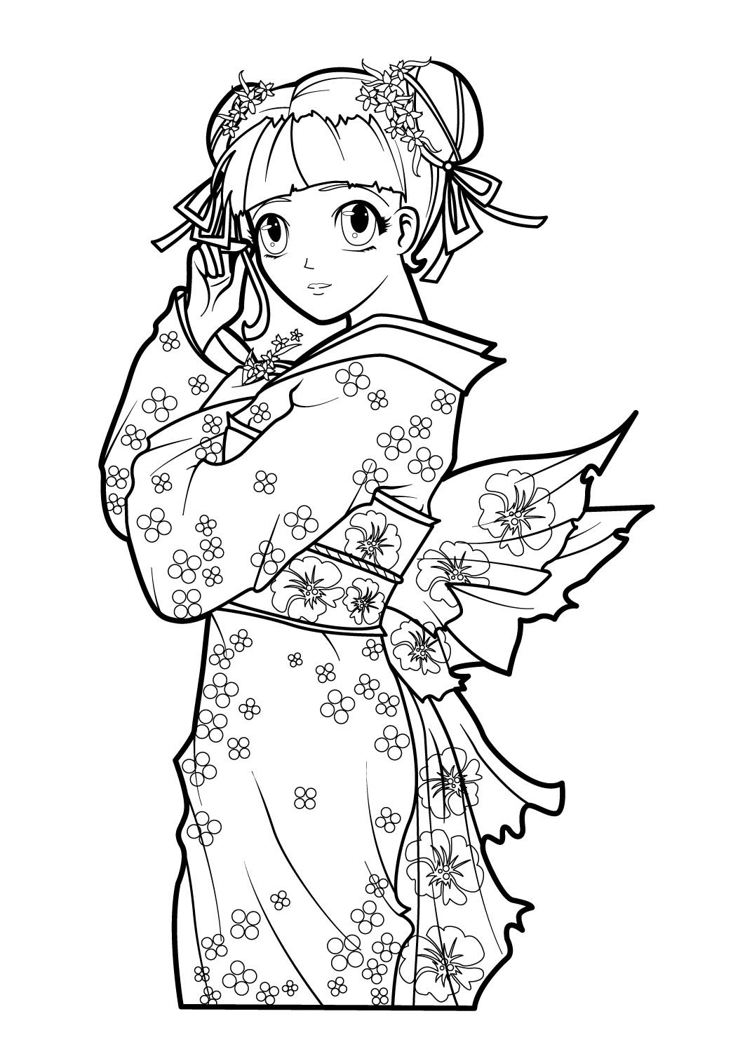 Coloriage de manga