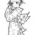 Coloriage Manga 1