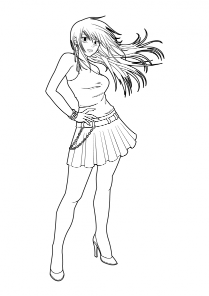 Coloriage Manga 10