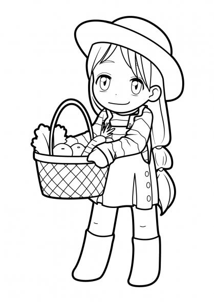Coloriage Manga 14