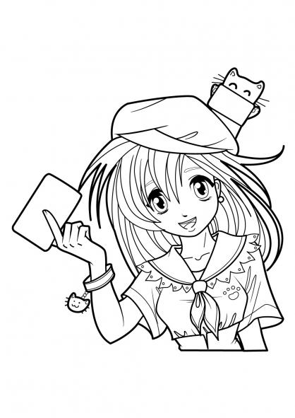 Coloriage Manga 15 - Coloriage Mangas - Coloriage Personnages