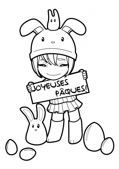 Coloriage Manga 6