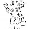 Coloriage Manga 7