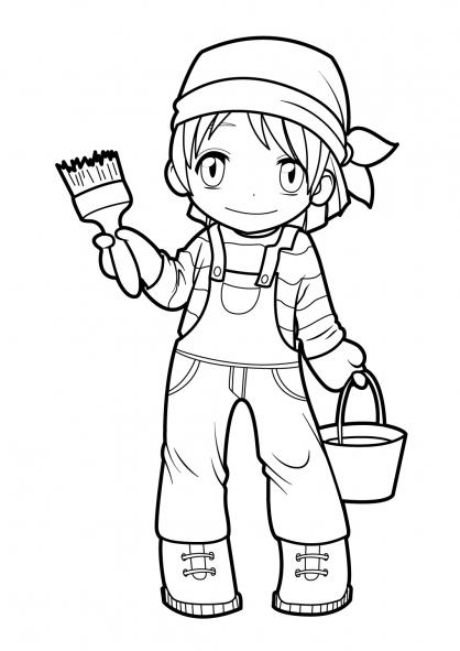 Coloriage manga 7 coloriage mangas coloriage personnages - Dessin de manga a colorier ...