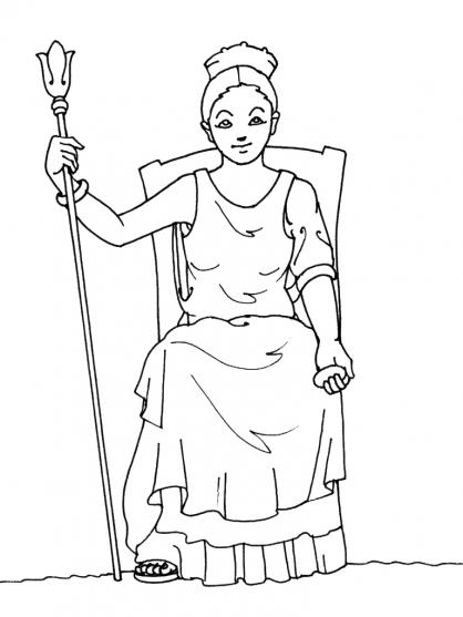 Coloriage Mythologie 15