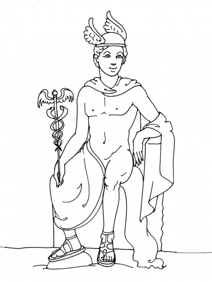 Coloriage Mythologie 8