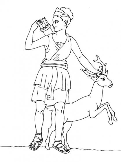 Coloriage Mythologie 9