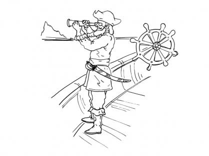 Coloriage Pirate 10