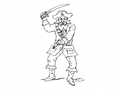 Coloriage Pirate 15