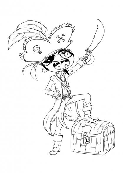 Coloriage Pirate 22