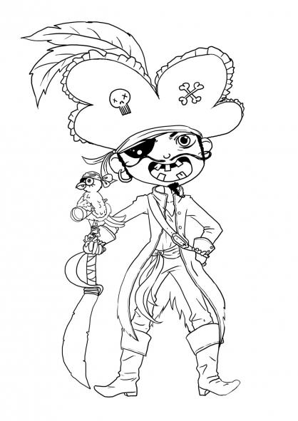 Coloriage Pirate 23