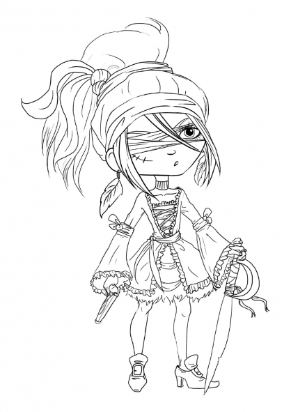 Coloriage pirate 25 coloriage pirates coloriage personnages - Coloriage fille pirate ...