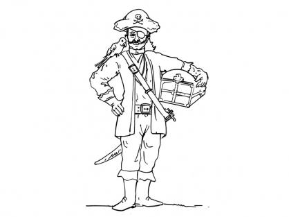 Coloriage Pirate 7