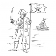 Coloriage Pirate 9