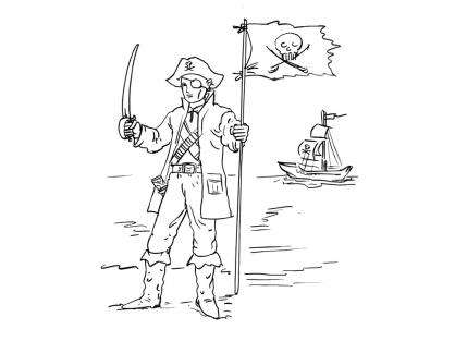 Coloriage Pirate 9