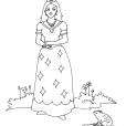 Coloriage Princesse 10